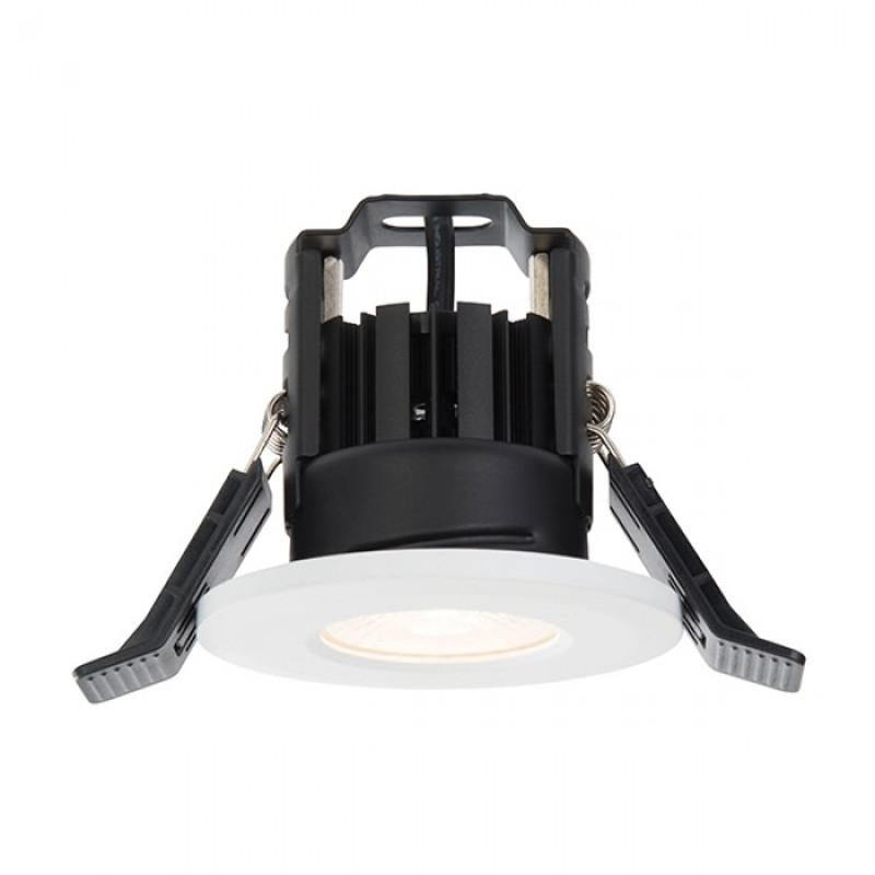 ShieldLED 600 IP65 Fire Rated Downlight 8W LED Warm White Matt White finish