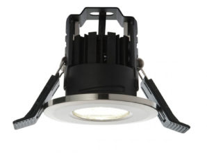 shieldLED 800 LED Fire Rated Downlight 11W Cool White Satin Nickel