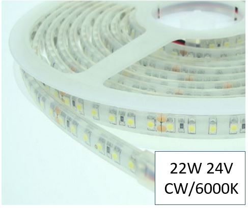 free shipping baec6 27aaa 22W Per/M 6000K Cool White LED Ribbon/Tape