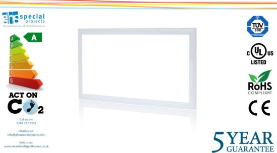 PANEL LIGHT 70W LED with driver 1200mmx600mm 5 YEAR guarantee 6000K