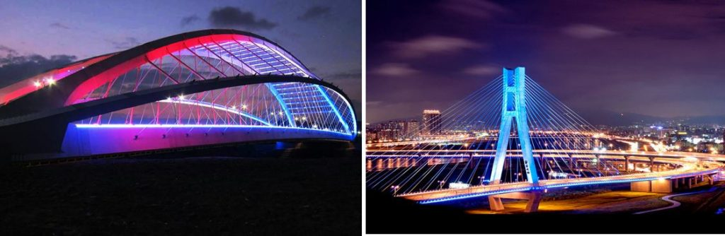 Achitectural Bridge Colour Flood Lighting