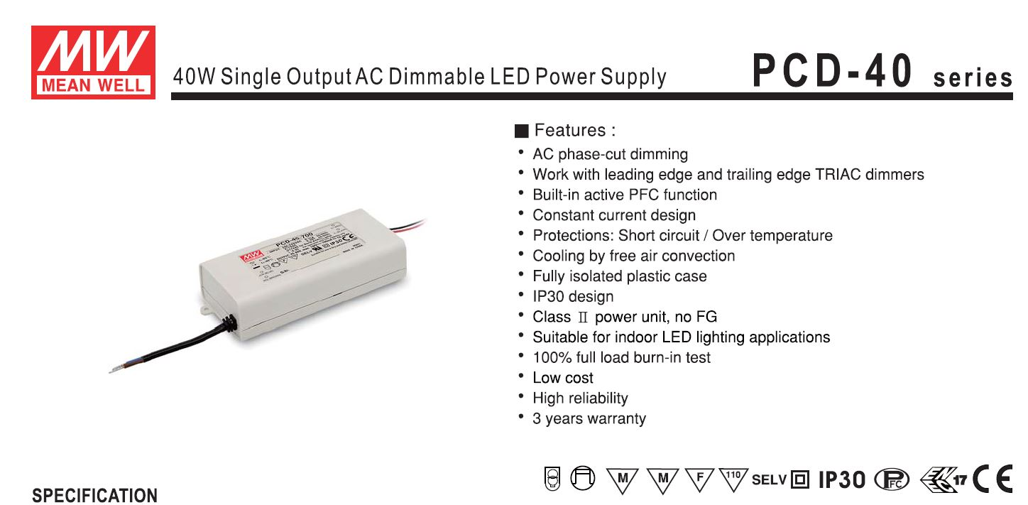 Meanwell Pcd 40 Dimmable Ghs Special Projects Led Lighting Constant Current Load For Power Supply Testing